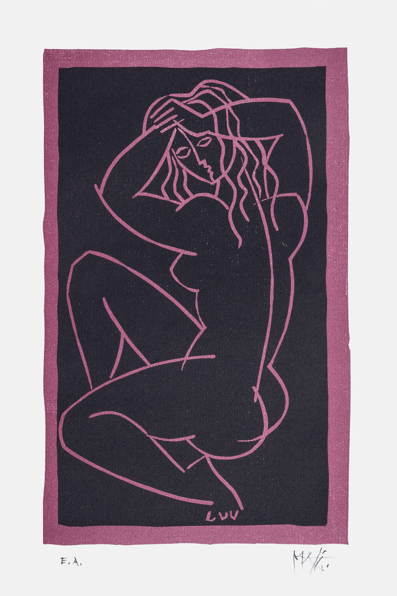 Frauenakt, Originallithographie