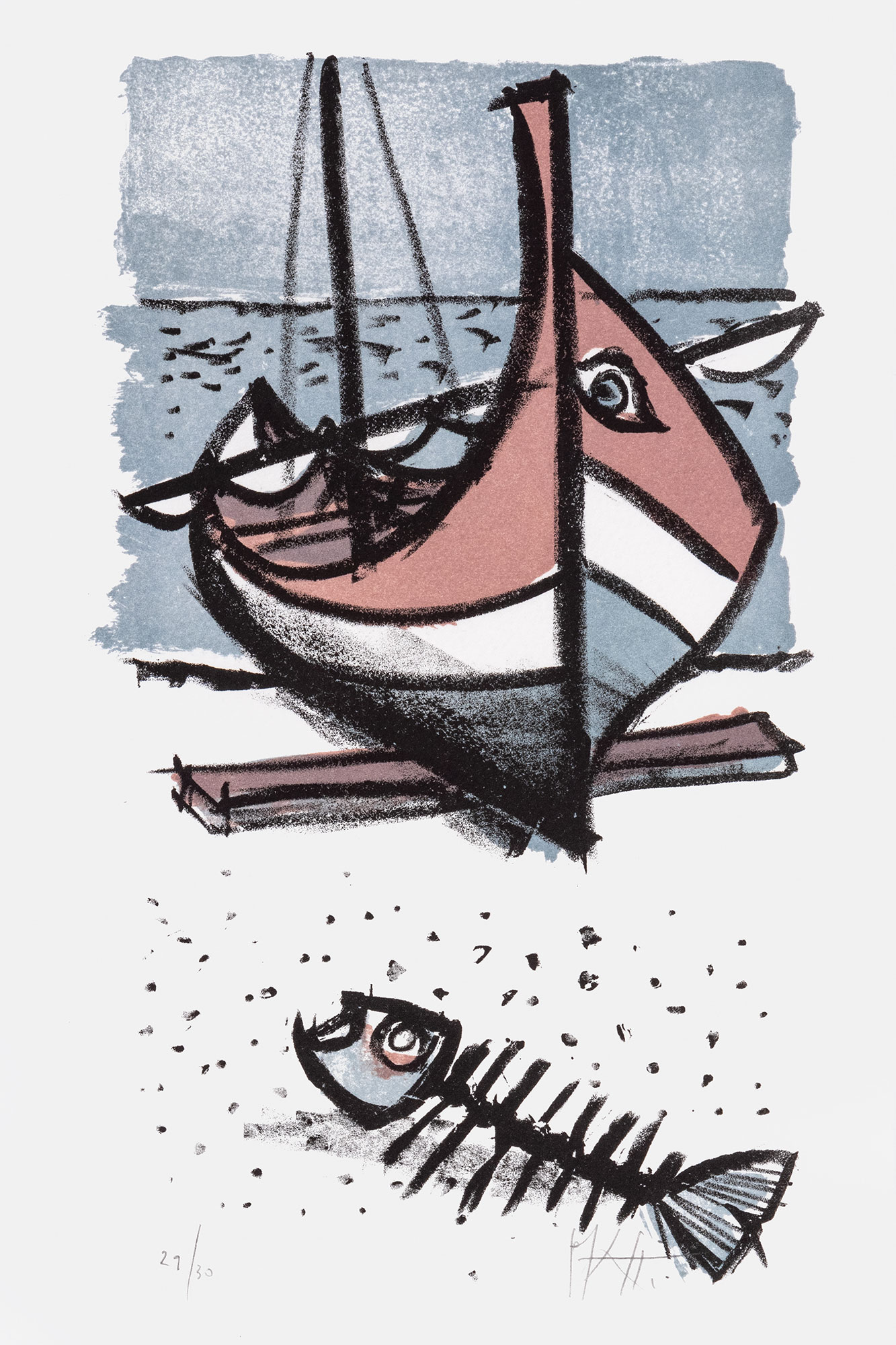 Schiff mit Fisch
